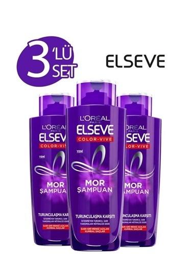 Elseve Loreal Elseve Mor Şampuan Turunculaşma Karşıtı X3 Renksiz